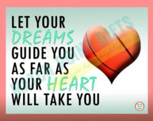 Inspirational basketball print. Senior night gift, sports motivational ...