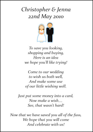 ... and wedding money poem cards style wedding poems for bride and groom