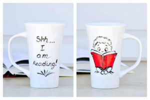 Reading Funny Quote Mug - Book Lover coffee cup - book worm Coffee Mug ...