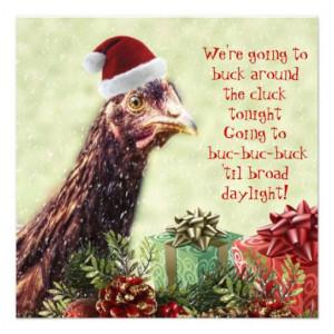 Chicken Christmas funny