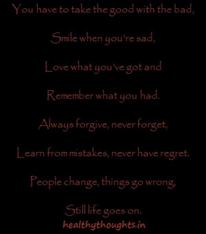 quotes on life_Life Goes On
