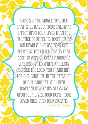 5x7 Prayer Quote by Gordon B Hinckley by EmilyJaneDesignsInc, $5.00