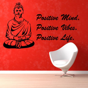 Buddha Words Wall Decal Quotes Positive Mind Yoga Studio Gym Decor ...