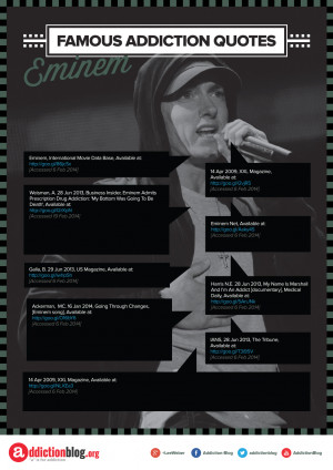 Eminem's quotes on drugs and addiction recovery (INFOGRAPHIC)