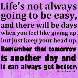 Life Not Easy Quotations Pictures