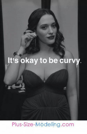 Kat Dennings helps me remember that being curvy is a bomb place to be ...