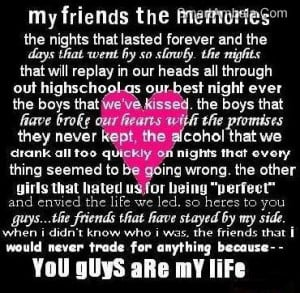 You Guys are My Life ~ Best Friend Quote