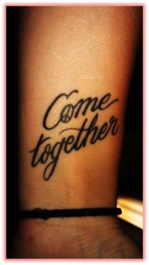 beatles quotes make awesome tattoos