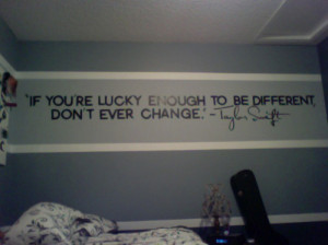 lucky, quote, room, taylor swift, text, yourself