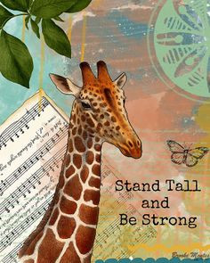 tall giraff, giraffes quotes, symbol, quot collag, giraffe quotes ...