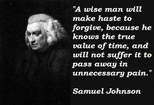 Samuel johnson, quotes, sayings, true value of time