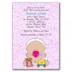 Cute Baby Shower Invitations: Girl