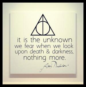 Harry Potter - Deathly Hallows - Albus Dumbledore Quote - 20X20 Canvas ...