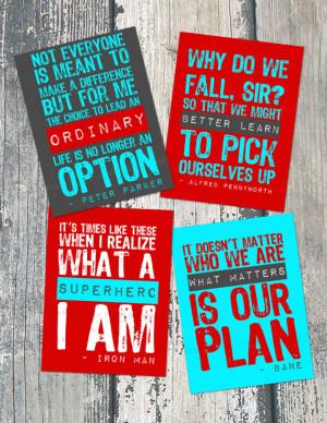 Superhero Quotes Inspirational Motivational quotes/