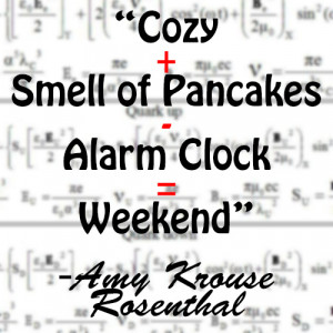 cozy smell pancakes alarm clock weekend amy krouse resenthal