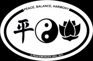 Peace, Balance, Harmony - Bumper Sticker / Decal (6