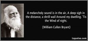 ... wail Around my dwelling. 'Tis the Wind of night. - William Cullen