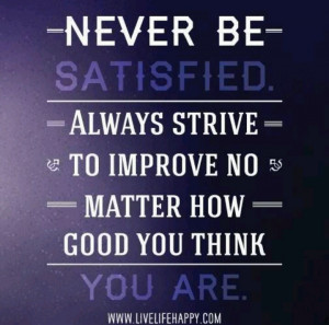 Always room for improvement