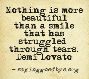 Tears #Smile #Loss #Life #Lovato #Quote #bipolar #bipolar2 # ...