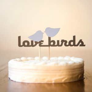 Top 6 Wedding Themes - Love Birds Wedding Cake Topper - mazelmoments ...