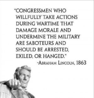 Congressmen who willfully take action during wartime that damage ...