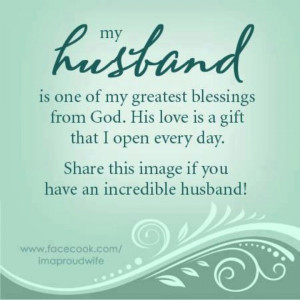Thank you Lord for my husband