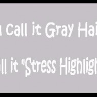 You call it gray hair, i call it stress highlights