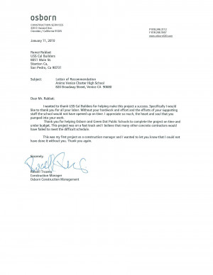 Letter of Recommendation from Colonel Jimmie Jackson, USAF …