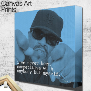 ice t quote square wall art