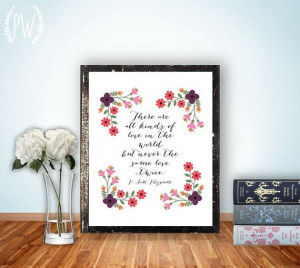 Quote Print, Printable art wall decor, inspirational love quotes ...