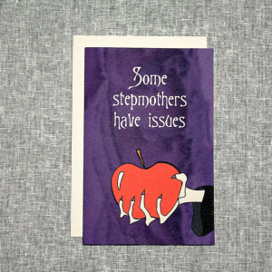 Stepmother Card Funny Wicked Fairytale Apple Snow White