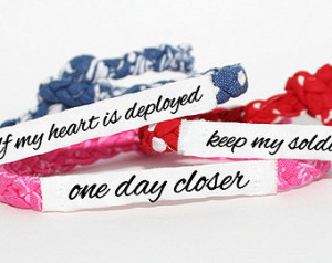 ... Deployment Bracelet - Army, Air Force, Navy, Soldier Wife, Girlfriend