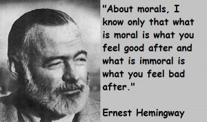 Quotes: Ernest Hemingway