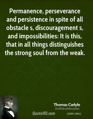 Permanence, perseverance and persistence in spite of all obstacle s ...
