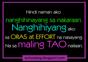 Tagalog Quotes Oras SA Mahal
