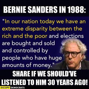 Bernie Sanders hasn't changed much