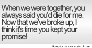 When we were together