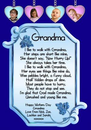 Happy Birthday Grandma Poems | grandma poems from baby , Cachedlifes ...