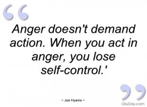 Anger doesn't demand action