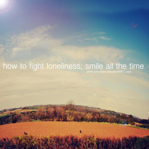 deviantart, landscape, lonely, pink-promise, quote, smile, sunny