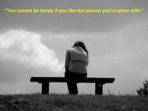 Lonely quotes for girl who sitting lonely on bench