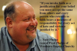 Nate Phelps (son of Fred Phelps from Westboro Baptist Chruch) speaking ...