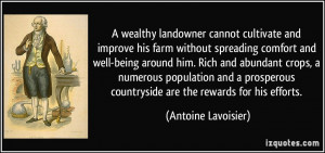 wealthy landowner cannot cultivate and improve his farm without ...