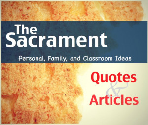 """... here to return to """"study and teaching"""" ideas for the Sacrament"""