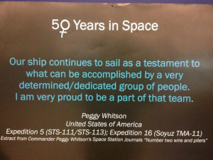 Quote by Peggy Whitson - first female commander of the International ...