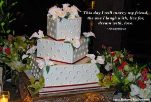 This day I will marry my friend ,