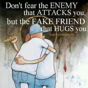 Fake friend vs real friends