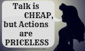 talk is cheap quotes