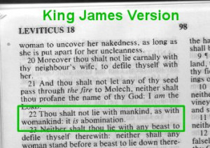 Leviticus 18:22 - homosexuality