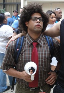 Maurice Moss from The IT Crowd, holding his famous cup. The wedge in ...